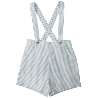 画像2: ANCHOR POLO SHIRT/BLUE CHECKERED BRACED SHORTS