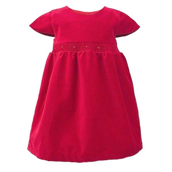 画像1: レッドベルベットドレス (1)