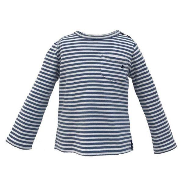 画像1: ブルーストライプアンカーTシャツ (1)