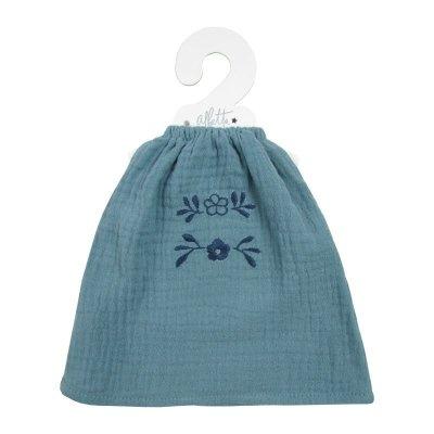 画像2: ティールモスリンの刺繍ドレス