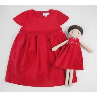 画像1: レッドベルベットドレス