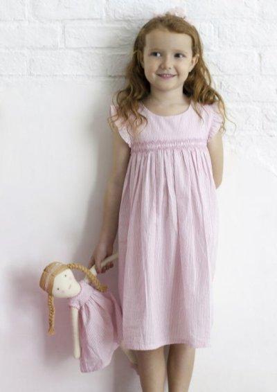 画像1: ピンクストライプワンピースのアデリーヌ